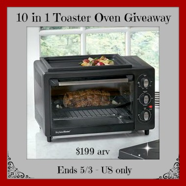 10 in 1 toaster oven button