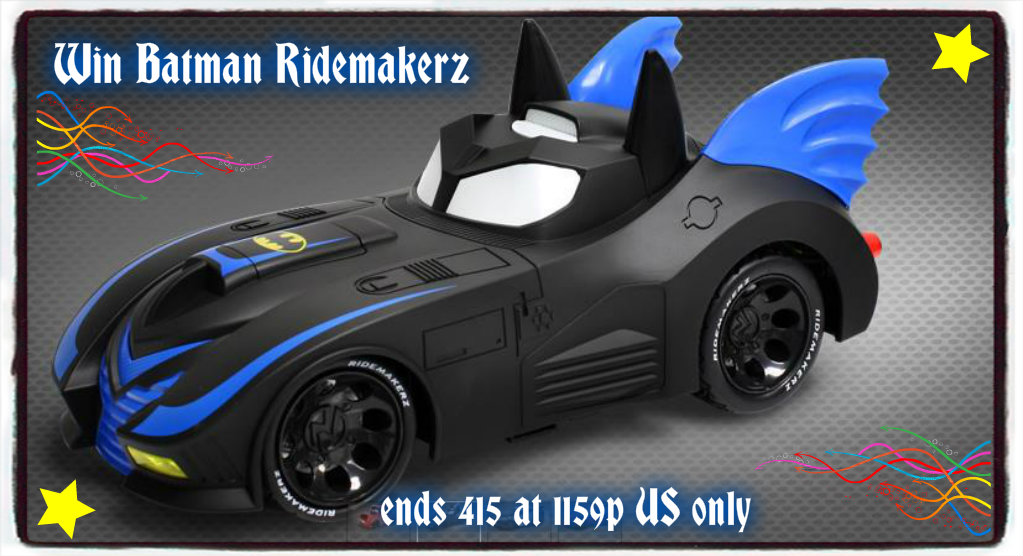 batmanridebutton Batman Ridemakerz Giveaway ends 4/15