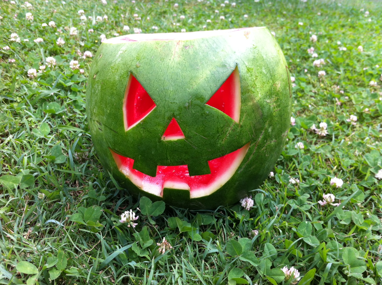 Carve a watermelon instead of pumpkin this halloween