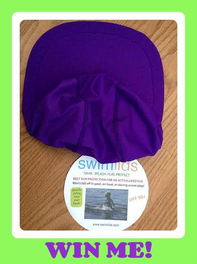swim lid purple button