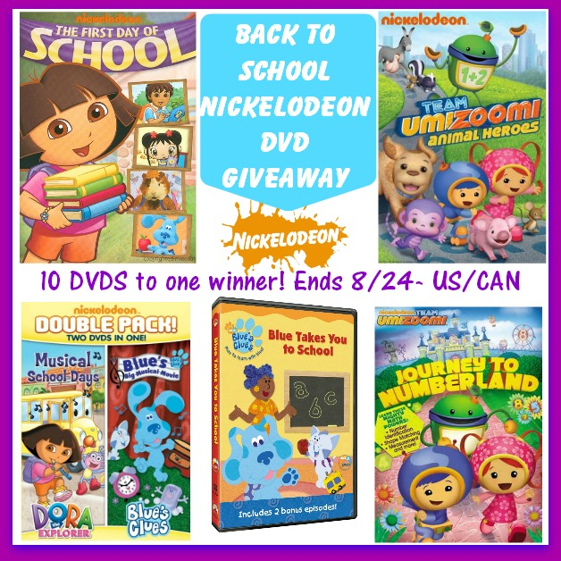 Back to School Nickelodeon DVD Giveaway