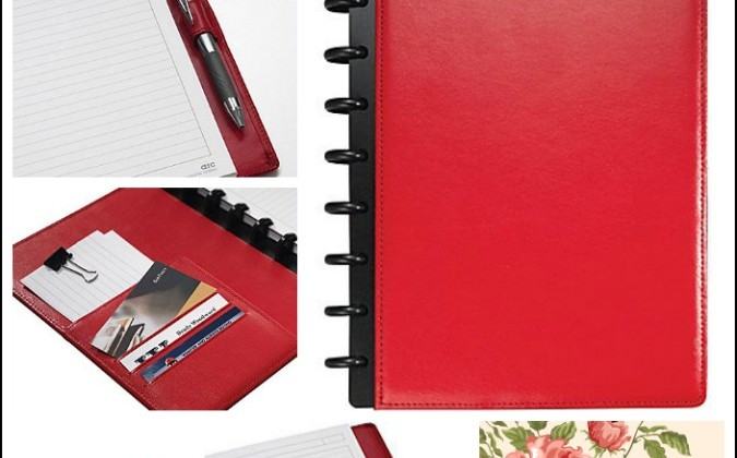 M by Staples Arc Customizable Leather Notebook Systems #Review at MomDoesReviews.com | #MomDoesReviews #GetOrganized