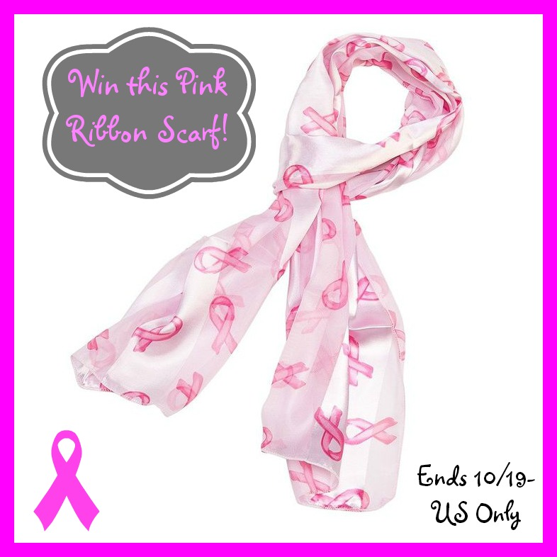 pink ribbon scarf giveaway