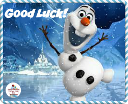 good luck olaf