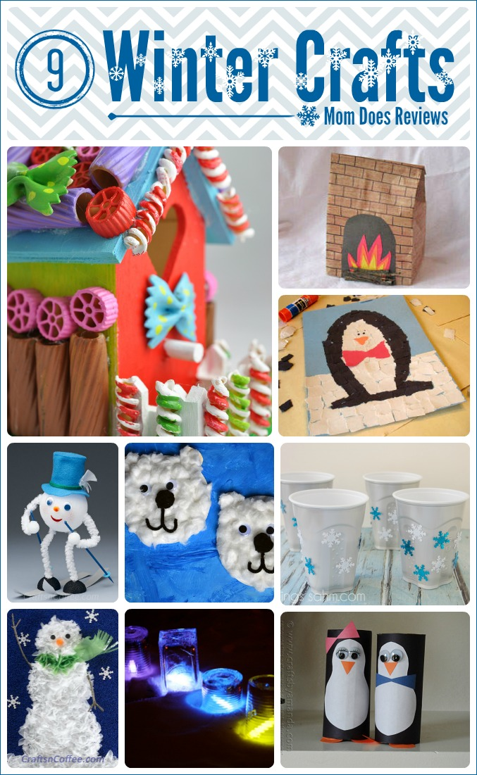 9 Winter Crafts to do on Holiday Break #easycrafts