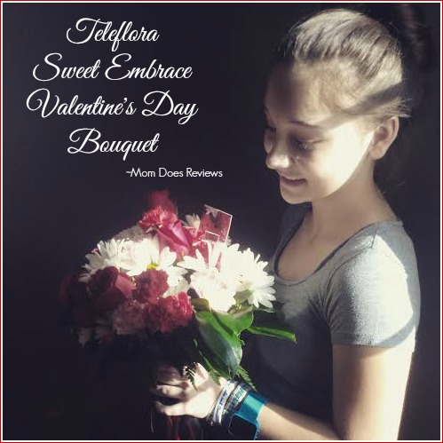 Teleflora Sweet Embrace Bouquet #ValentinesDayFlowers #MomDoesReviews