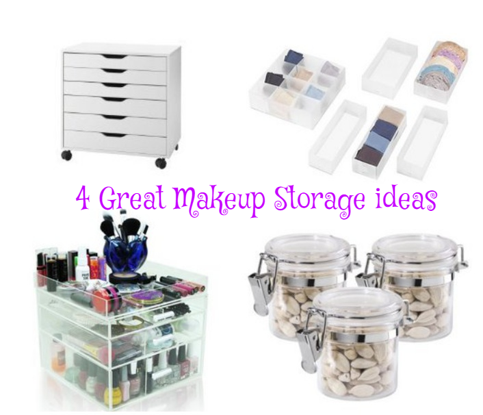 4 Makeup Storage Ideas Organization