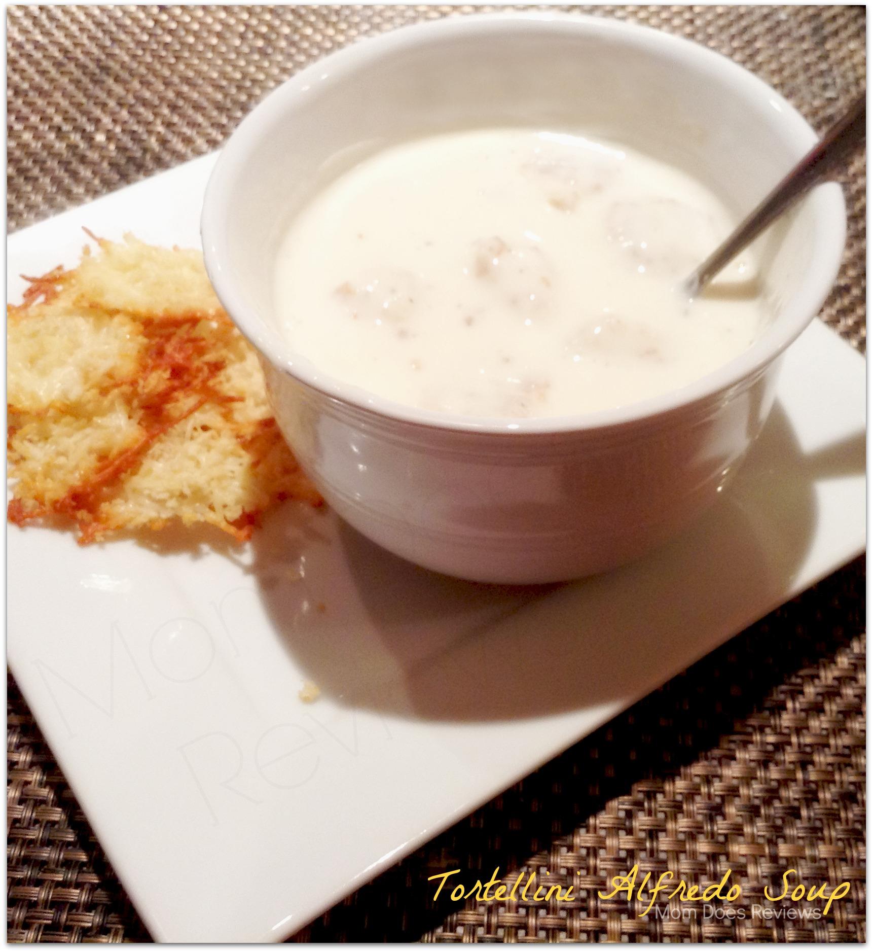 Tortellini Alfredo Soup Recipe at #MomDoesReviews