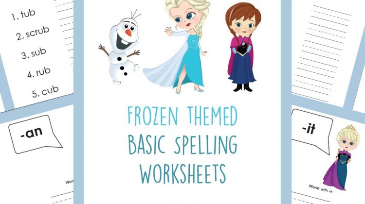 #Free Frozen Spelling Worksheets and more from #educents