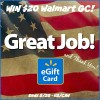 $20 mem day walmart flag gc