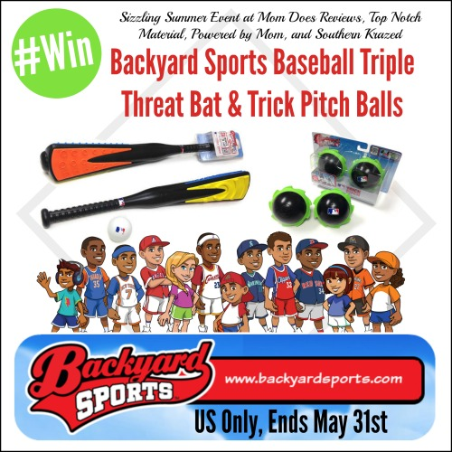 #Win Backyard Sports Baseball Triple Threat Bat U0026 Trick Pitch Balls   US  Only, Ends May 31st