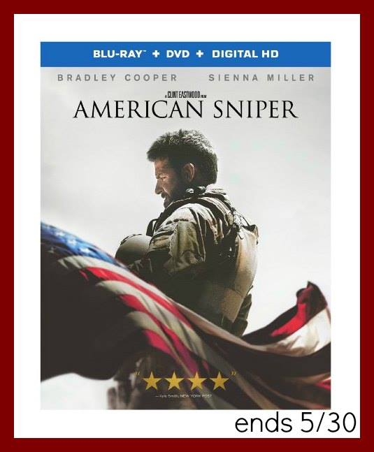 #Win American Sniper Blu-Ray DVD US Only Ends 5/30