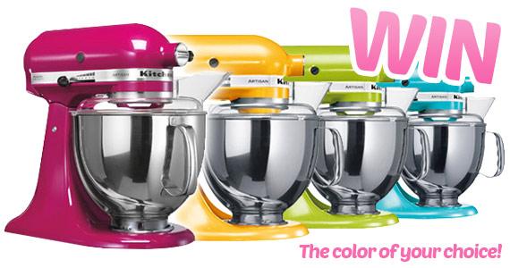 Kitchenaid Colors 2015 win a kitchenaid artisan stand mixer- us/can 7/23 -