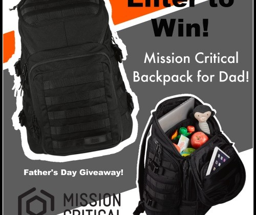 Mission Critical Father's Day Giveaway #Backpack #MissionCritical #MomDoesReviews