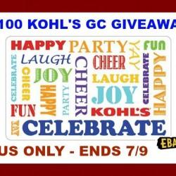 kohls giveaway ebates