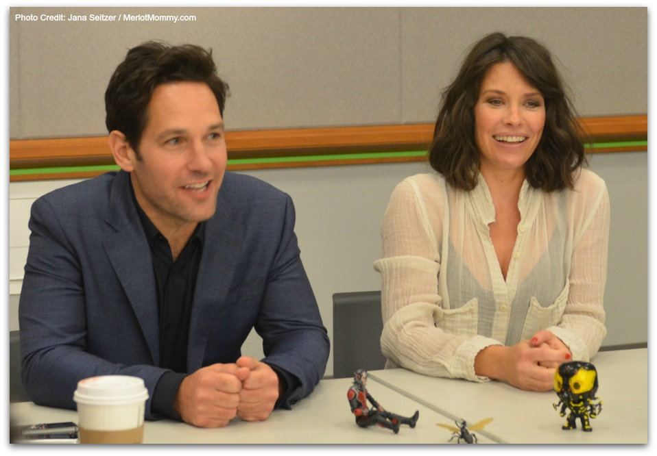 Paul Rudd and Evangeline Lilly #AntManEvent