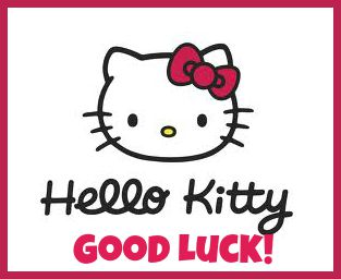 hello kitty logo good luck