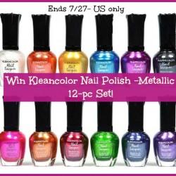 kleancolor nail polish giveaway