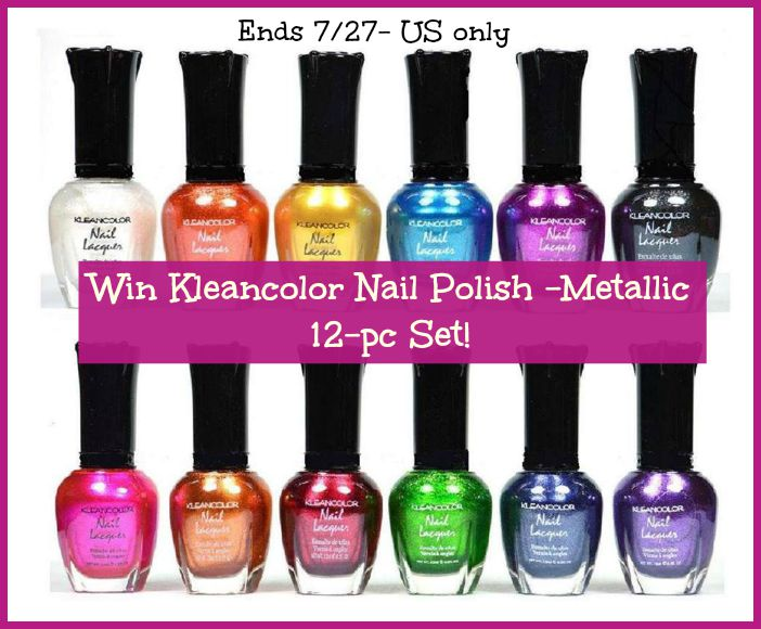 EliteWeekendFlash #Win Kleancolor Nail Polish 12 pc set! US ends 7/27 -