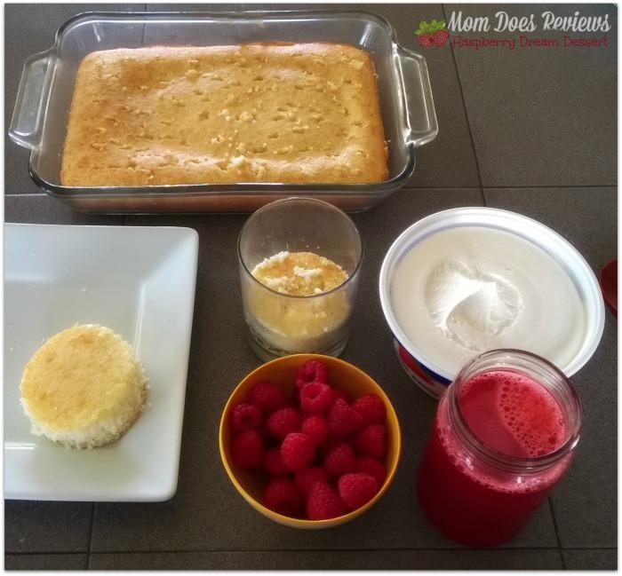 Raspberry Dream Dessert Ingredients