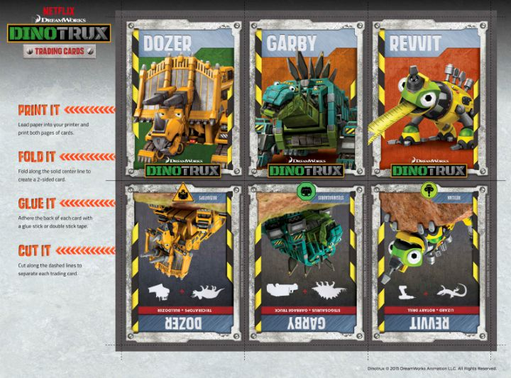 DINOTRUX Trading Cards