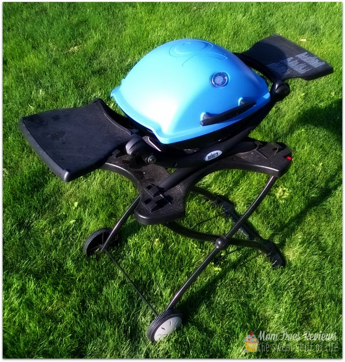The Perfect Camping, Tailgating, Labor Day, SUMMER Grill from Weber; Weber Q 1200 Portable Gas Grill with Cart