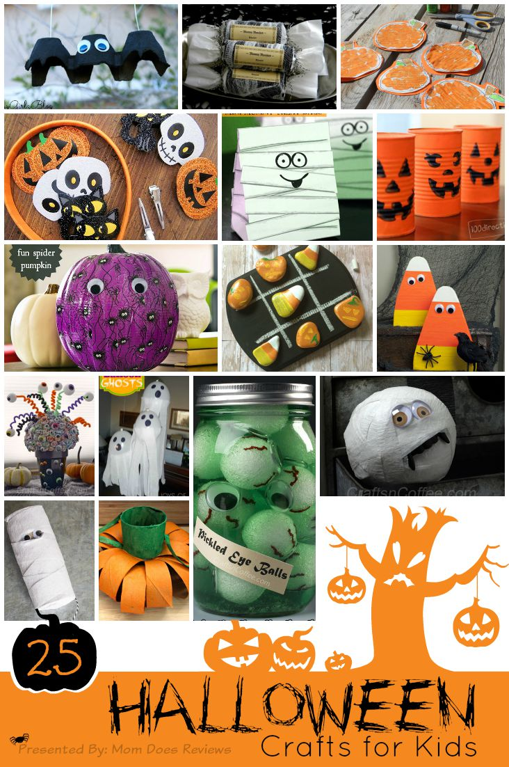 25 Halloween Crafts for Kids #Roundup #MomDoesReviews #HalloweenCrafts #Halloween
