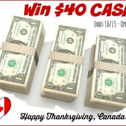 $40 cash canada thanksgiving