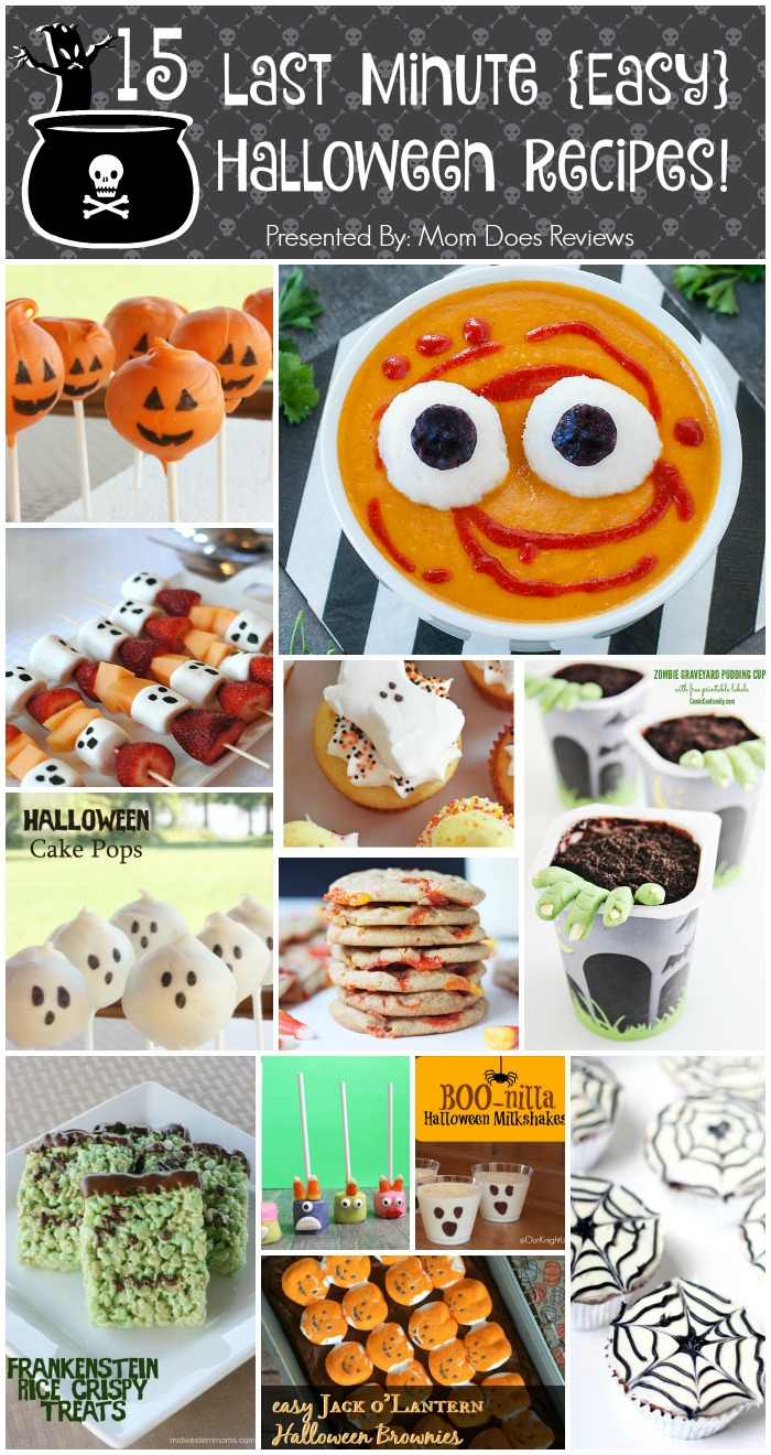 15 Last MInute Halloween Recipes