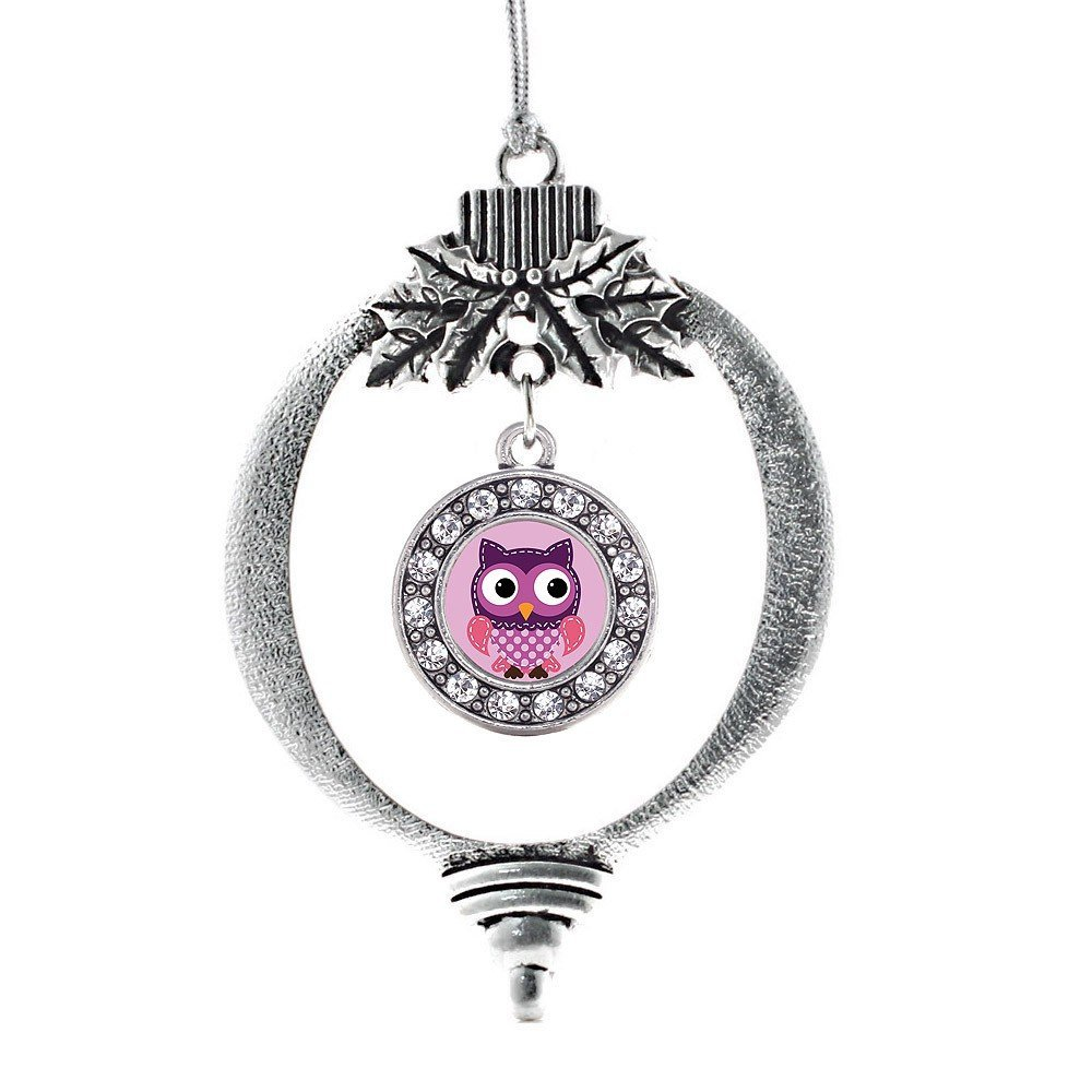 Silver Christmas Tree Owl Ornament