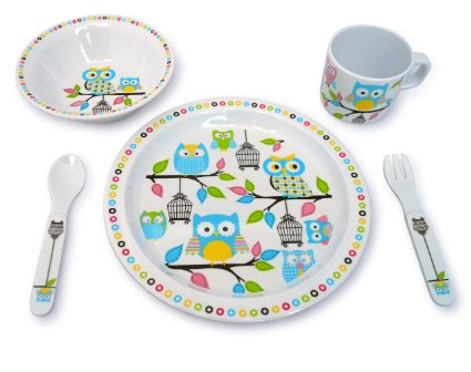 Owl Plate and Bowl Giftset