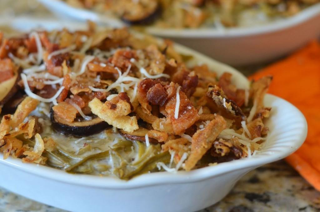 Portabella Bacon Green Bean Casserole
