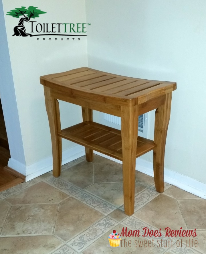 ToiletTree Bamboo Shower Seat with Shelf-#Review #ChristmasMDR15 -