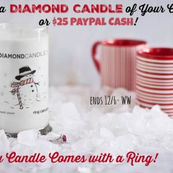 freshsnow-diamond candle