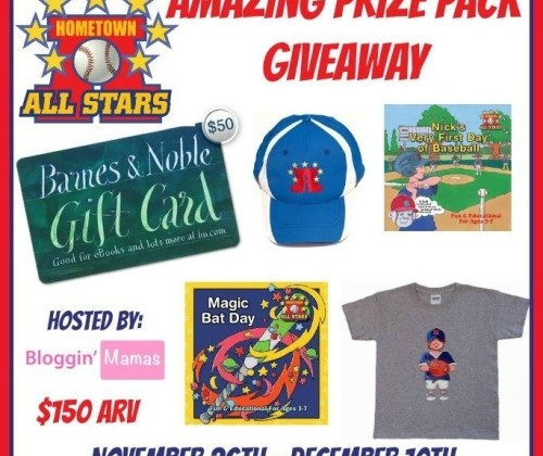 #Win $50 Barnes&Nobles GC & Hometown All Stars Prize Pack US ends 12/10