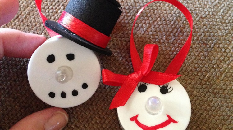 Frosty and Snowbell Tealight Ornament #DIYChristmas