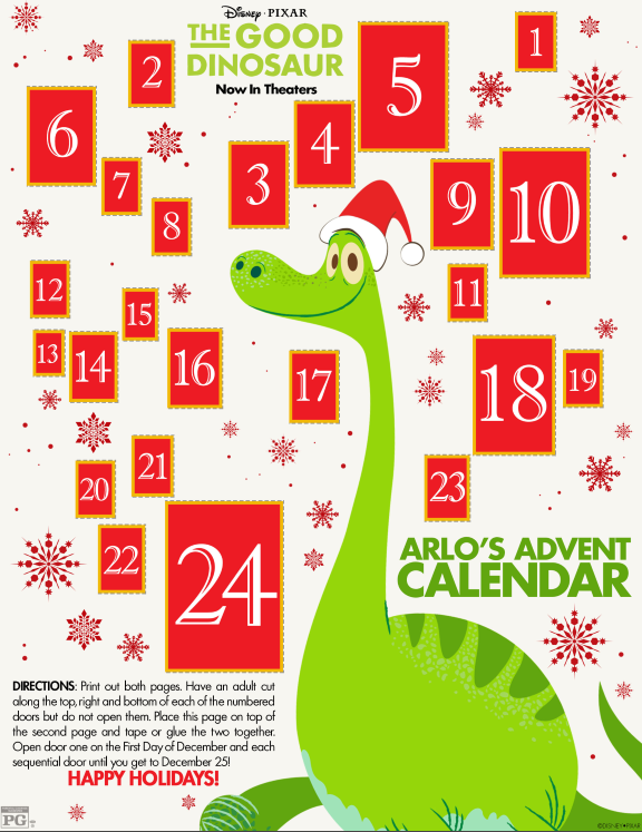 Good Dinosaur Advent Calendar
