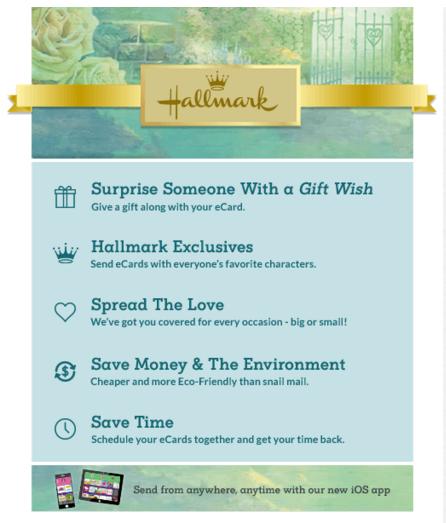 Hallmark e cards only 1 a month sign up today hallmark m4hsunfo