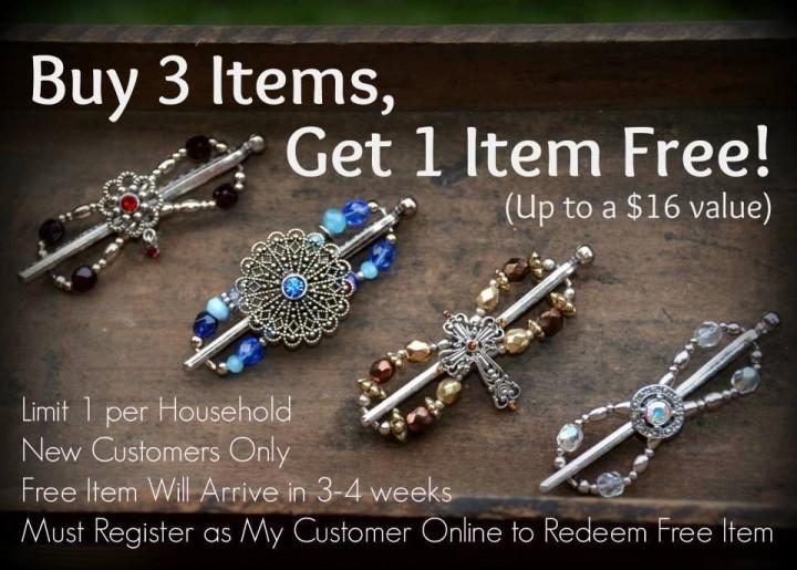 buy3 get 1 free new customers