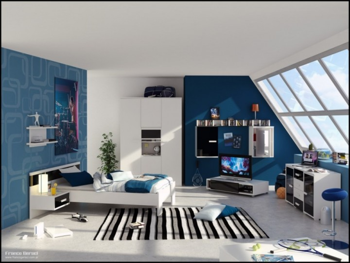 Modern Cool Room Decor For Guys Bedroom Ideas
