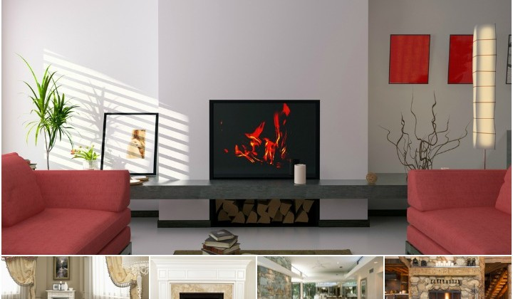 5 Fireplace Make Over Inspirations #DIY