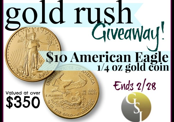 #Win American Eagle GSI Exchange Gold Coin $350 arv #MomBuzz #Invest4Future ends 2/28 US