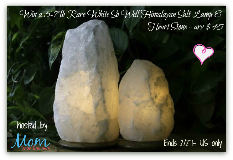 Himalayan Salt Lamp For Eczema : So Well Rare White Himalayan Salt Crystal Lamp #Giveaway Ends 2/27