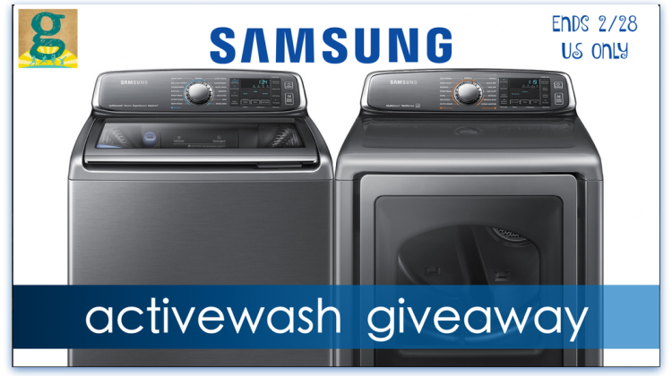 #Win Samsung ActiveWash Washer and Dryer- US 2/28