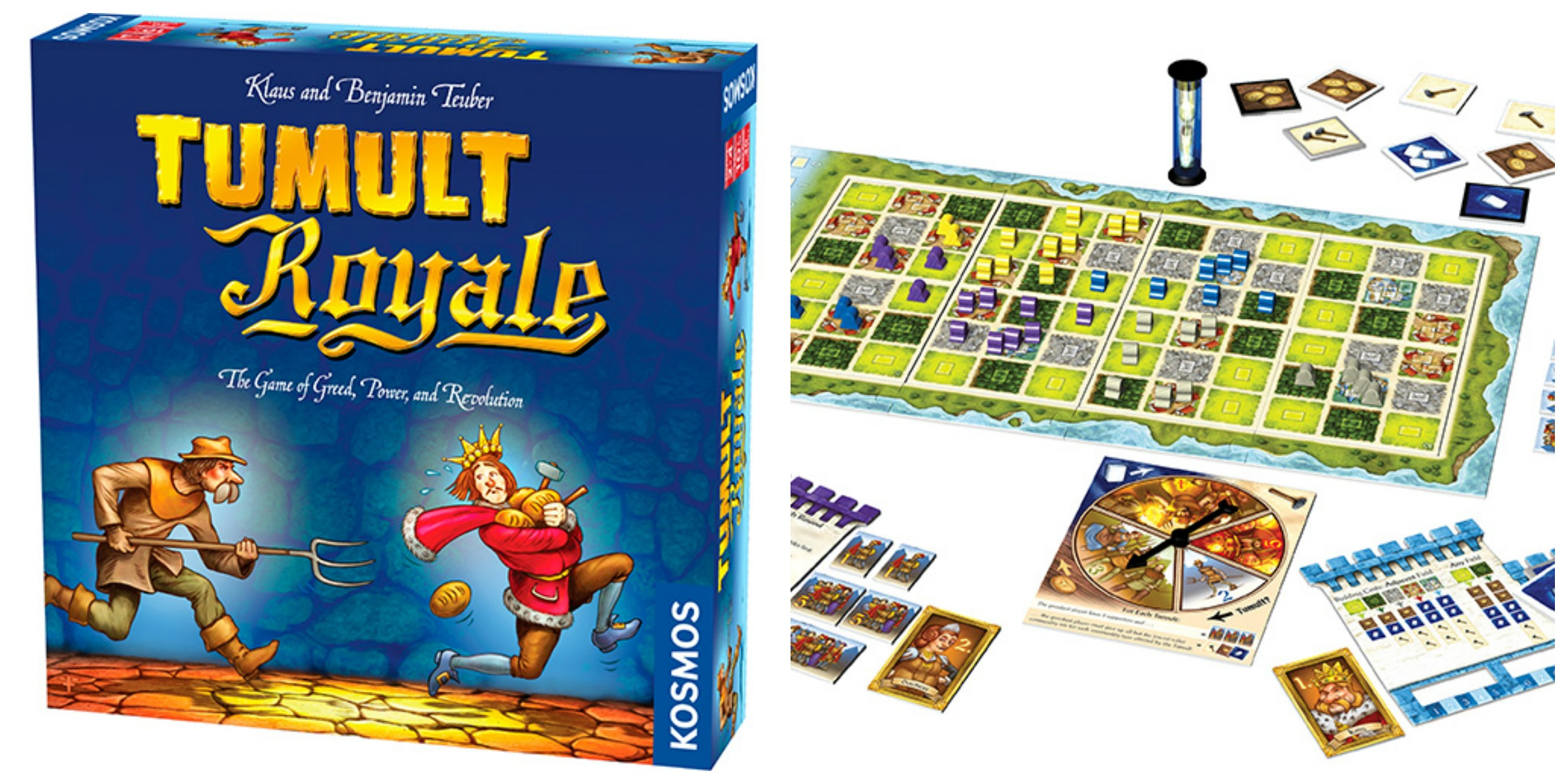 As well as making educational science kits, Thames and Kosmos, make a line  of games under the Kosmos name. The game Tumult Royale was fun to play, ...