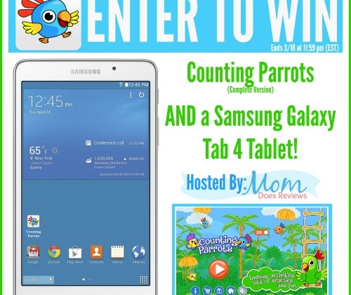 Counting Parrots Samsung Galaxy Tab 4 Tablet Giveaway!  US Only, Ends 3/25