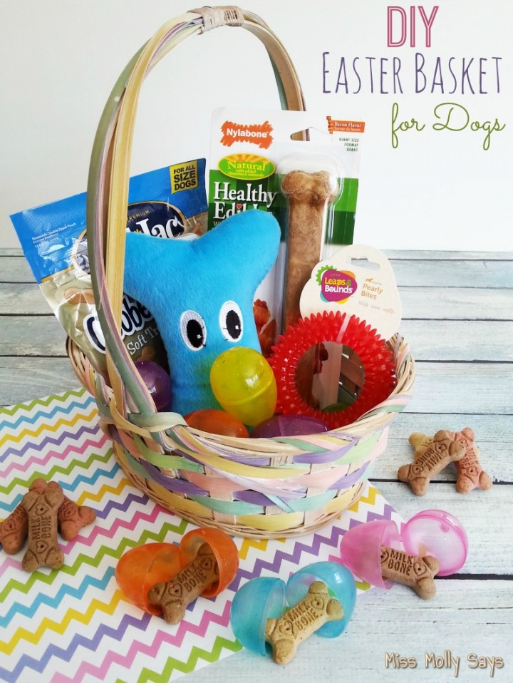 12daysof easter recipes crafts day 7 diy easter basket for dogs diy easter basket for dogs final with words negle Gallery