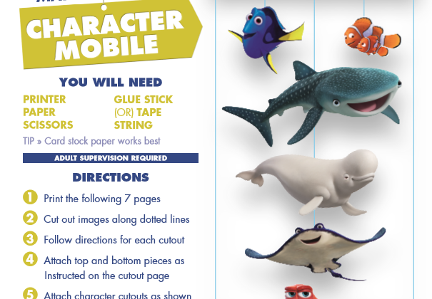 Disney•Pixar's FINDING DORY - MORE FREE Activity SHEETS! #FindingDory #HaveYouSeenHer