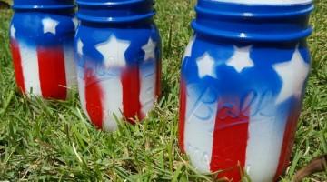 #12DaysOf Summer Recipes and #Crafts {Day 10} Patriotic Mason Jars