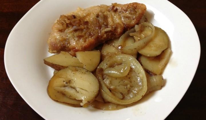 Pork Chop and Potato Bake plated